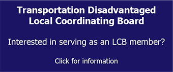 Transportation Disadvantaged Local Coordinating Board- Search for Member Applicants