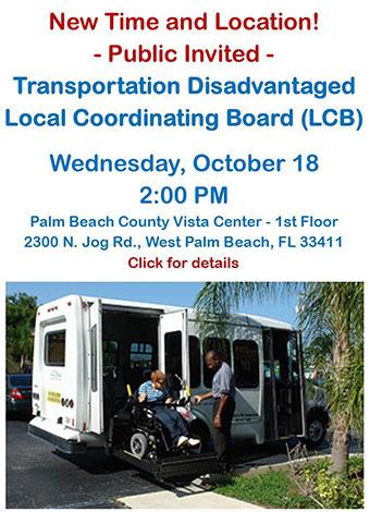 2017 OCT 18 Transportation Disadvantaged Local Coordinating Board meeting
