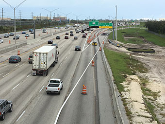I-95 at Spanish River Blvd. northbound exit ramp open - Oct 2017