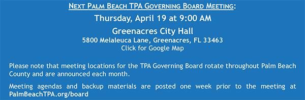 Palm Beach TPA Board Meeting April 19, 2018
