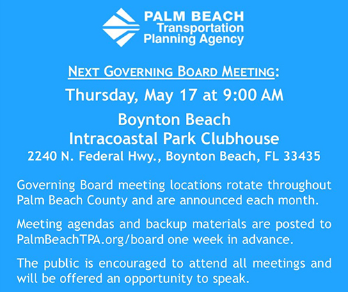 TPA Board Meeting - May 17, 2018