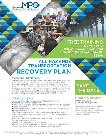 All Hazards Transportation Recovery Plan