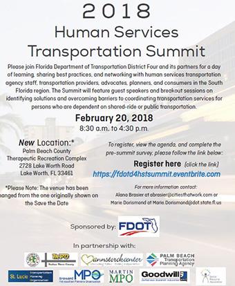 2018 Human Services Transportation Summit