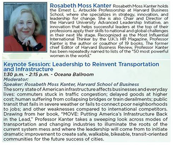 Safe Streets Summit Keynote Speaker Rosabeth Moss Kanter