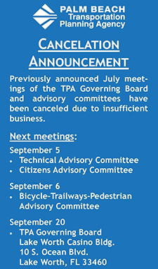 Cancelation of July Meetings