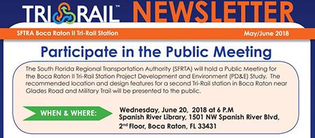 Tri-Rail Station in Boca Raton - Public Meeting 6/20/2018