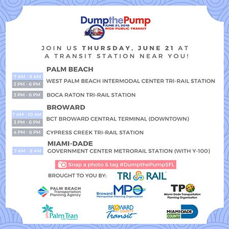 Dump the Pump Day Schedule - June 21, 2018