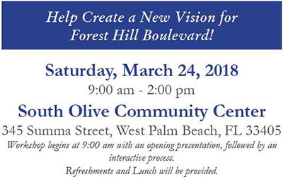 Forest Hill Blvd. Workshop - March 24, 2018