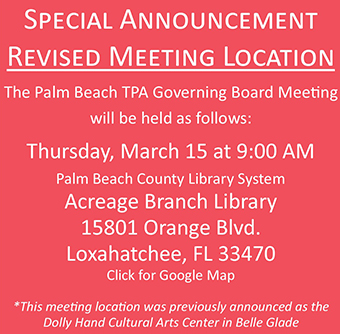TPA Governing Board Location Change Announcement