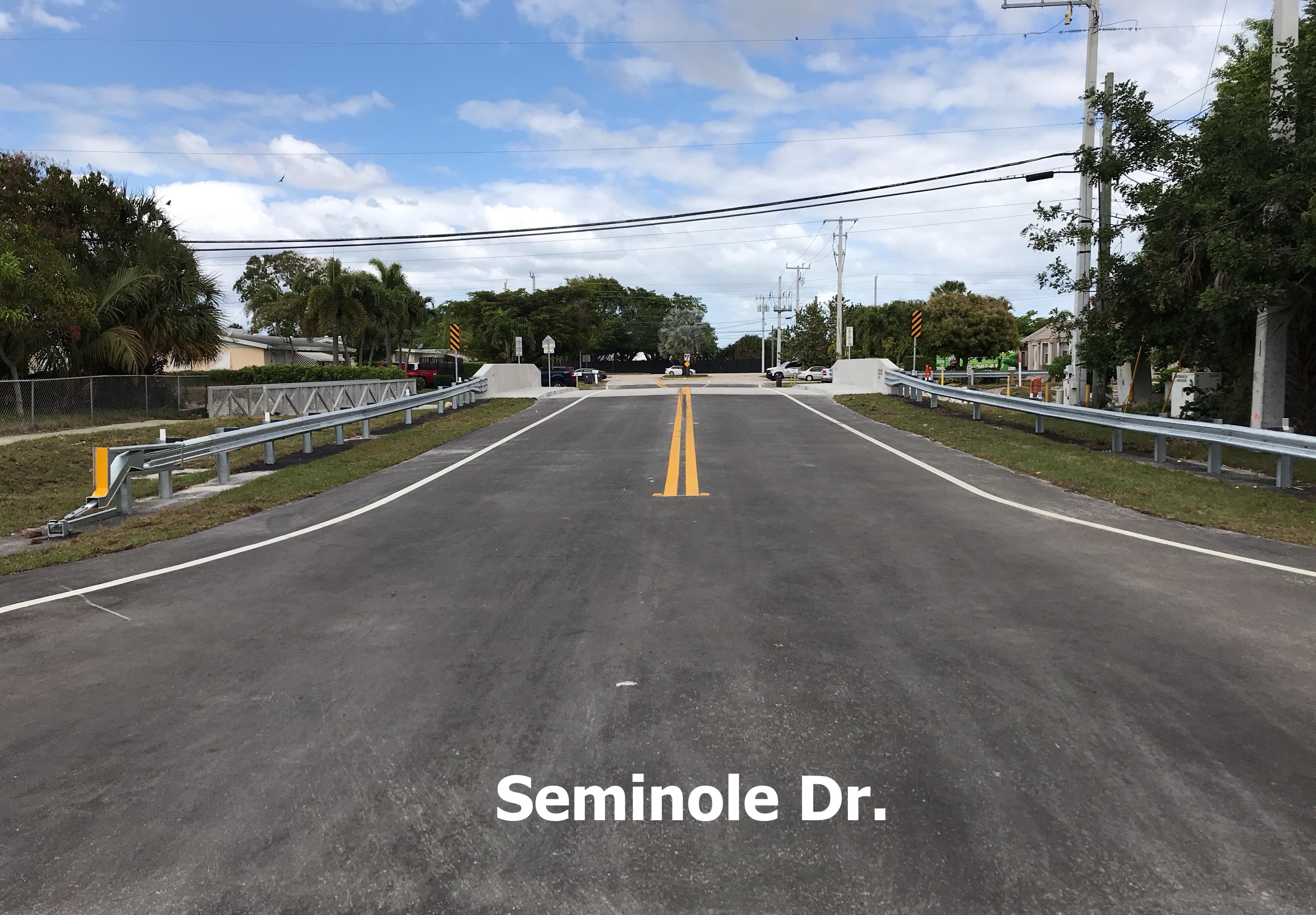 Seminole Drive Bridge After