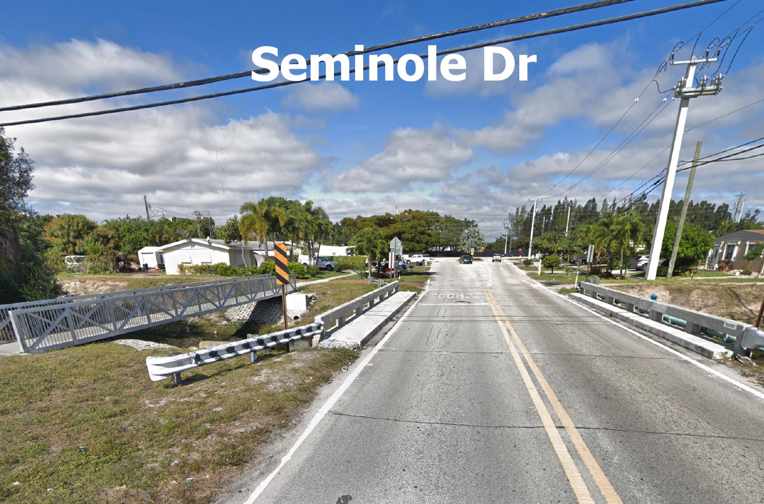 Seminole Drive Bridge Before