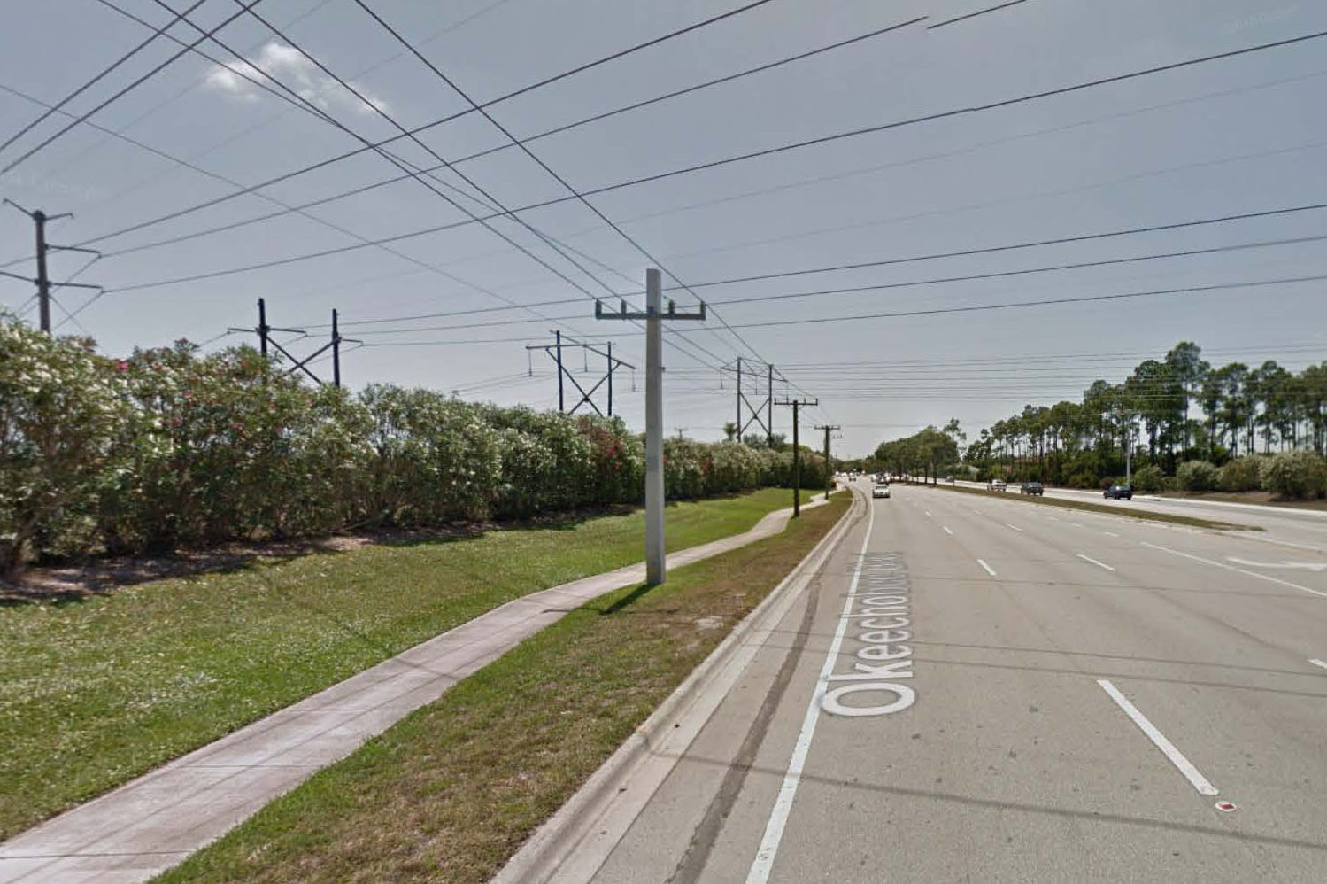 BEFORE: Okeechobee Blvd. Pedestrian Improvements