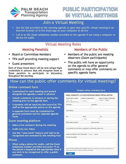 Public Participation in Public Meetings