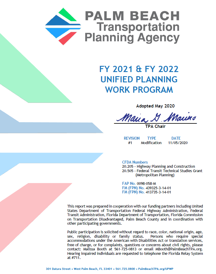 UPWP FY 2021 - 2022