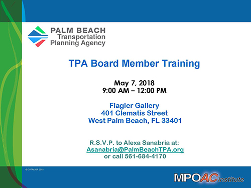 TPA Board Member Training - May 7, 2018