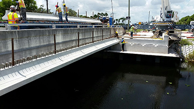 Photo - Construction of Spanish River interchange at I-95 in Boca Raton