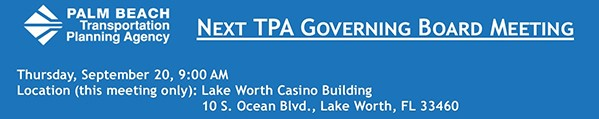 TPA Governing Board Meeting - Sep. 20, 2018