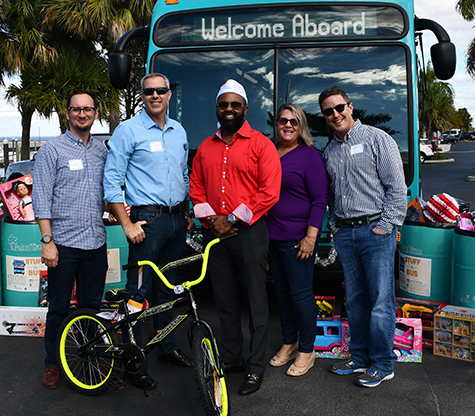 "TPA and Palm Tran staff ""Stuff the Bus"" with toy donations - Tri-Cities BBQ - 12/7/2018"