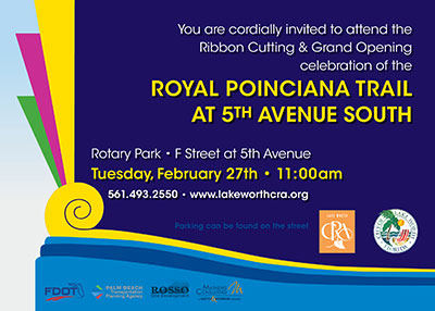 Lake Worth Royal Poinciana Trail Opening