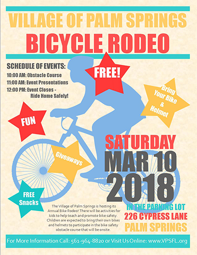 Palm Springs Bike Rodeo 3-10-2018