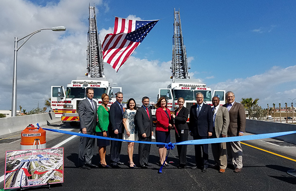 I-95 interchange at Spanish River Blvd. Ribbon Cutting 2-28-2018