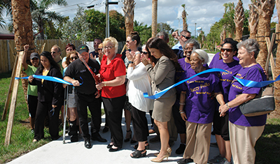 Lake Worth Royal Poinciana Trail Ribbon Cutting 2-27-2018