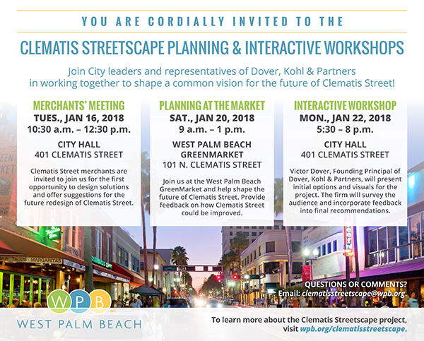 West Palm Beach - Clematis Streetscape Plan Meetings
