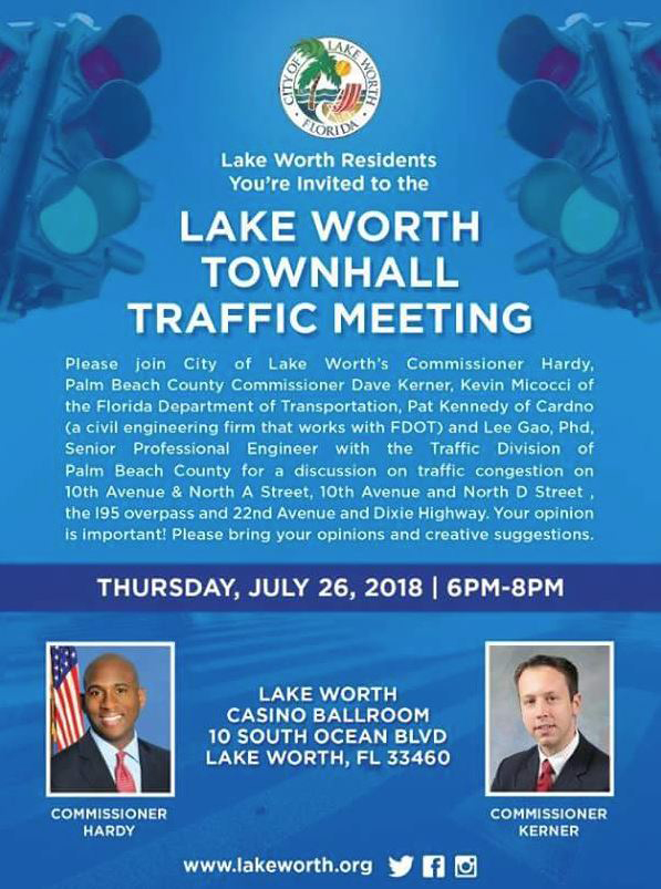 Lake Worth Traffic Meeting - July 26, 2018