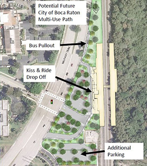 Proposed concept plan for new Boca Raton Tr-Rail station