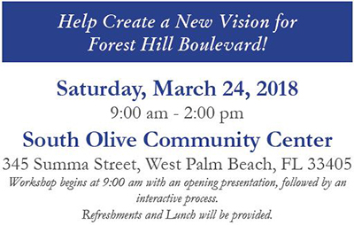 Forest Hill Blvd. Workshop - March 24, 2018