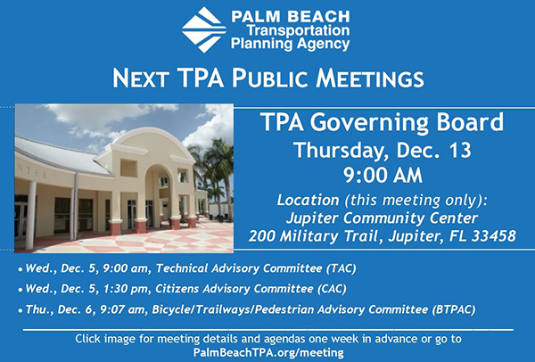 Next TPA Public Meetings