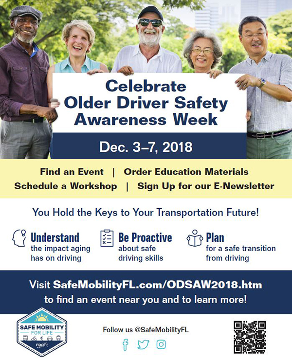Older Driver Safety Awareness Week Dec. 3-7, 2018