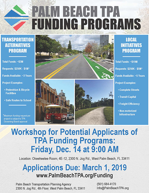 Palm Beach TA 2019 Funding Program Flyer