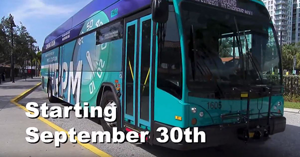 Palm Tran bus system image and video link