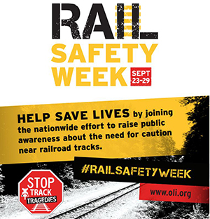 Rail Safety Week - Sep. 23-29, 2018