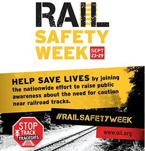 Rail Safety Week - Sep. 23-29, 2018