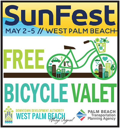 SunFest Free Bike Valet, May 2-5, 2019