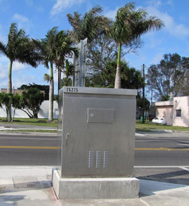 """Typical traffic signal equipment box to provide a """"canvas"""" for public art"""