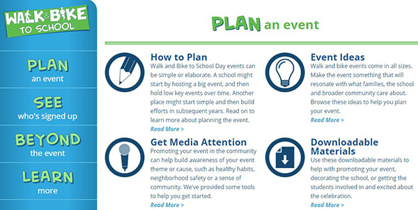 Walk & Bike to School - Plan an Event