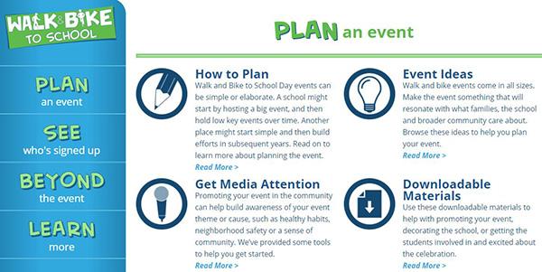 Walk & Bike to School - Plan an Event