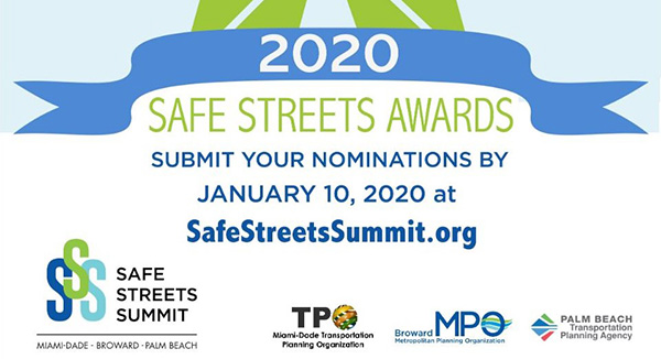 Submit Nominations for Complete Streets awards by 1-10-2020