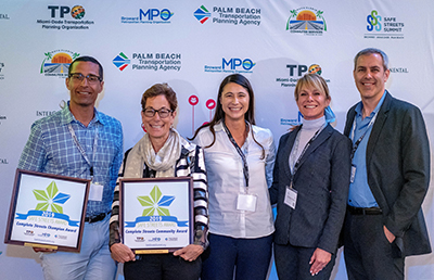 Safe Streets Summit Award Winners from Palm Beach County