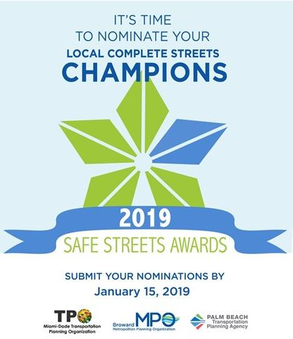 Awards Nominations Due Date - Safe Streets Summit 2019