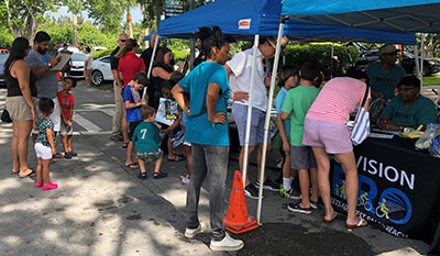 Vision Zero event crowd, July 20, 2019, South Florida Science Center & Aquarium