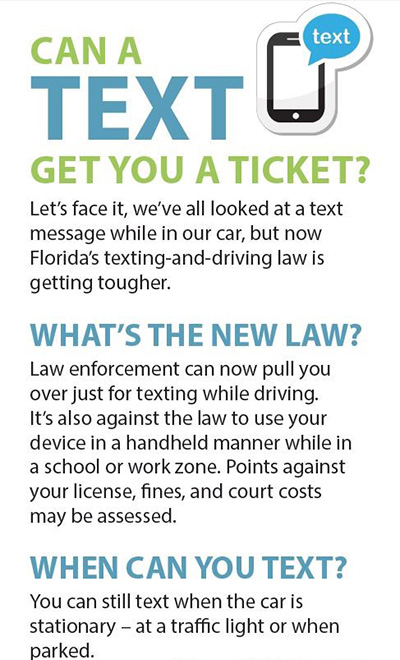 Can a text get you a ticket? Florida's new law makes texting while driving a primary offense.
