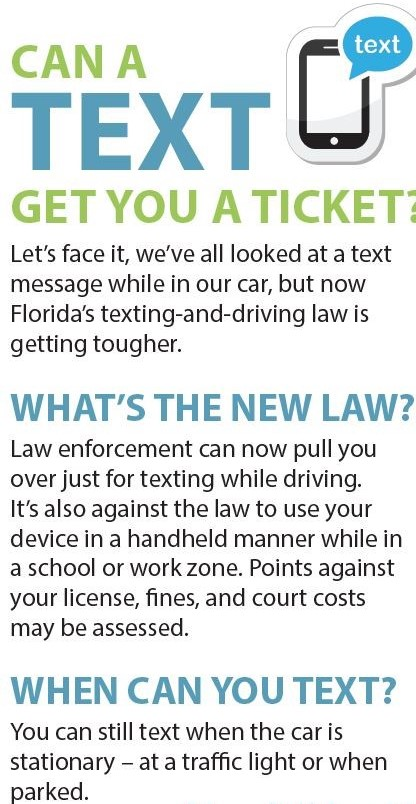 Can a Text Get You a Ticket? New law makes texting and driving a primary offense.