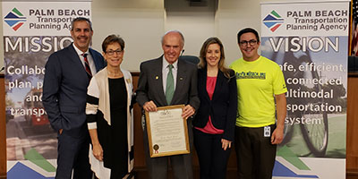 Palm Beach TPA issues a Bicycle Month Proclamation for March
