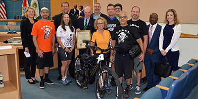 Palm Beach County Commissioners issue a Bicycle Month proclamation for March