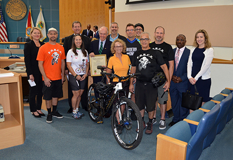 Palm Beach County Commission proclaims March as Bicycle Month