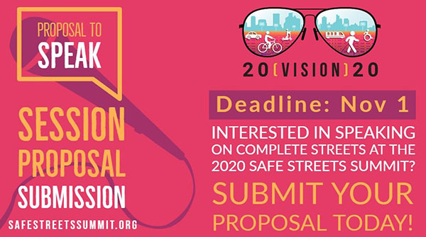Solicitation for Speaker Proposals to Present at the Safe Streets Summit on Feb. 7, 2020